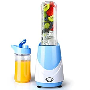 CUH Portable Personal Blender 250W with 2 Travel Bottles Light Blue