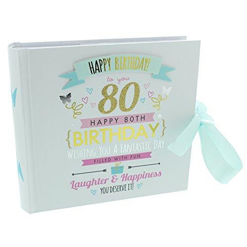 Oaktree Gifts 80th Birthday Girl Photo Album Hold 4 x 6