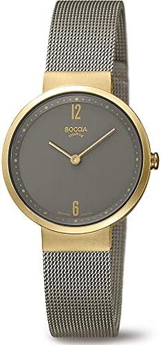 Boccia Dames analoog kwartshorloge met roestvrij stalen armband 328302