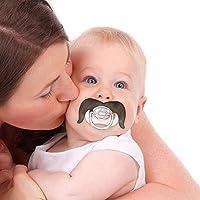 homese Bebé divertido bigote chupete BPA gratis de silicona ...