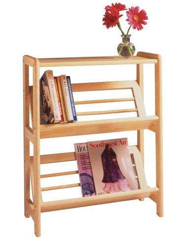 Winsome Wood 2-Tier Bookshelf, Natural