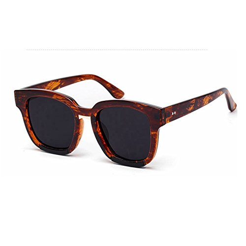 giallo la Gafas de TL gafas sol sol sobredimensionado para Sunglasses hembra Retro de rojo de sol Mujer UV400 negro Colore de gafas Pxn1nAw