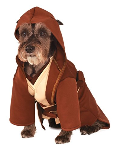 Baby Star Wars Costumes Uk (Rubie's Star Wars Classic Jedi Robe Pet Costume, Medium)