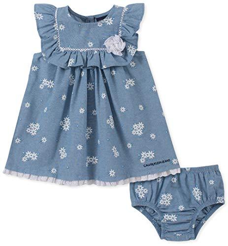 Calvin Klein Baby Girls 2 Pieces Dress Set, Blue, -