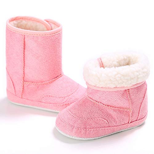 Pictures of Fnnetiana Unisex Baby Soft Sole Anti-Slip Dark Pink 3
