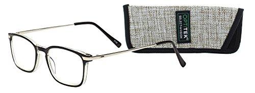 2da9f975c8a7 SAV Eyewear (Select-A-Vision) Optitek Computer Round Reading Glasses 2109  Black