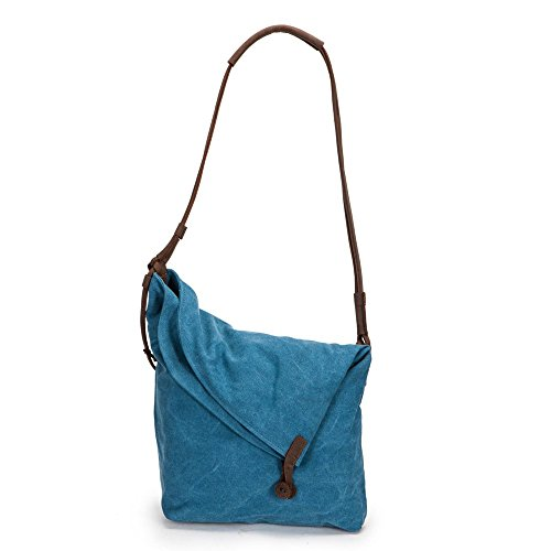 Boshiho® Unisex Retro Canvas Hobo Crossbody Messenger Bag Oversize Satchel Handbag (blue) Boshiho-canvas-shoulder Bag-104-c