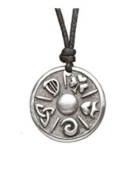 Celtic Symbol Necklace Pewter Mystery of Ireland