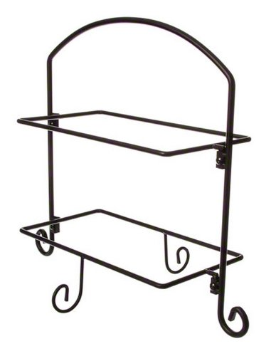 American Metalcraft (IS11) Two Tier Ironwork Stand For Rectangular Plates by American Metalcraft