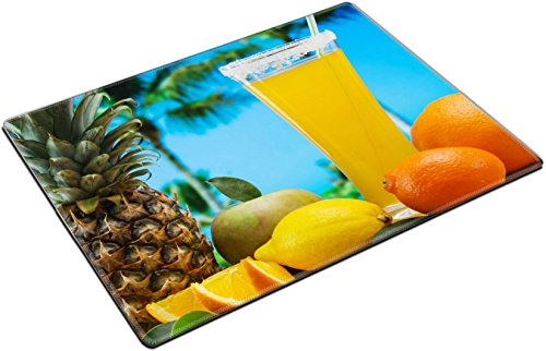 MSD Place Mat Non-Slip Natural Rubber Desk Pads design 20086722 Glass of orange juice on a beach table