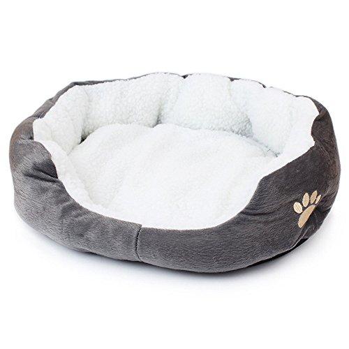 Hecentur Pet Dog Warm Bed Puppy Cat Soft Fleece House Plush Cozy Nest Mat Pad (Gray)