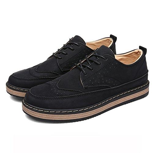 XIAOLIN- Chaussures Décontractées Épaissir Chaussures De Plaque Garde Au Chaud Chaussures Angleterre ( Couleur : Gris , taille : EU39/UK6.5/CN40 ) Noir