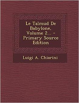 TÉLÉCHARGER LE TALMUD DE BABYLONE