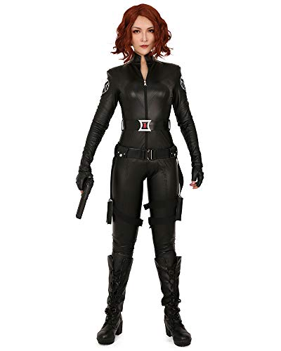 Cosplay.fm Women's Black Widow Cosplay Costume Bodysuit (XL) -