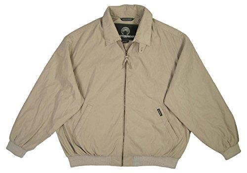 (Weatherproof Men's Microfiber Classic Jacket (Size XXL, Color Stone))