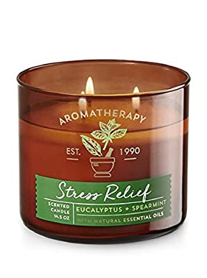 Bath & Body Works Aromatherapy Scented Candle in STRESS RELIEF - Eucalyptus + Spearmint