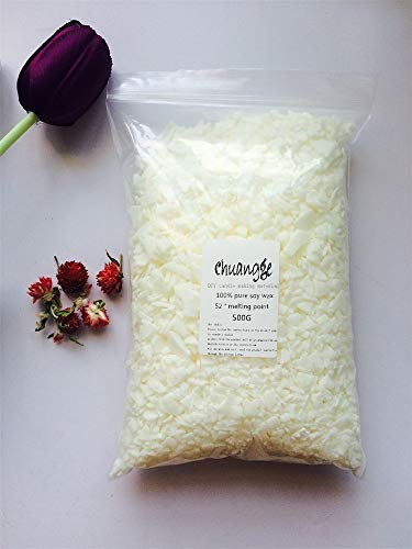 Soy Slice (Gano Zen Candle Making 100% Pure Soy Wax Ivory White Slice Aromatherapy Candle Making Supplies Wax Flake DIY Handmade Scents Pillar Candle 500g)