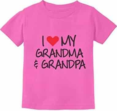 26cd94f6081 TeeStars - I Love My Grandpa   Grandma Grandkid Gift Toddler Infant Kids T-