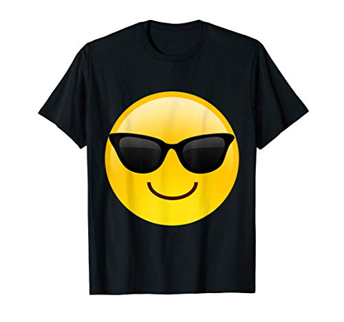 Emoji Shades Smiley Face Sunglasses Cool Confident T-Shirt