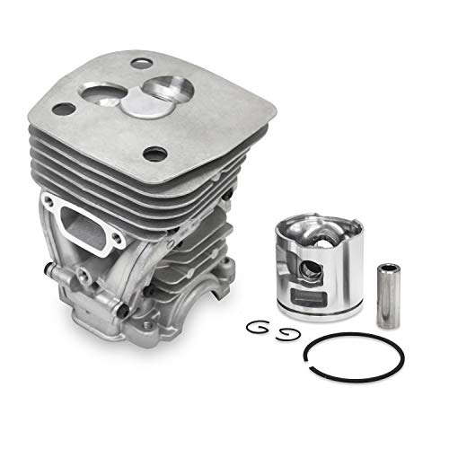 Everest Parts Supplies New Cylinder Head FITS Husqvarna 455 460 47mm Piston KIT Piston PIN Rings CIRCLIP