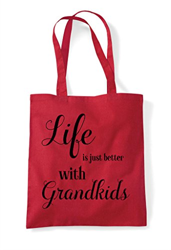 Bag Shopper Statement With Family Tote Grandkids Life Better Just Red Is qAwFa8