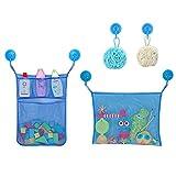 Bathroom kids Bath Toys Organizer & Toy Holder Mesh Shower Caddy Organizer Set for Toys, Shampoo & Soap Bath Toy Storage (Color : Pure Blue)