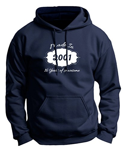 Sweet 16 Birthday Ideas On A Budget (Sweet Sixteen Birthday Party Supplies 16th Birthday Gifts Made 2001 16 Years of Awesome Premium Hoodie Sweatshirt XL)