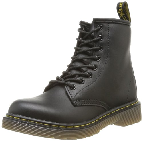 Dr. Martens Kid's Collection Unisex 1460 Junior Delaney Boot (Little Kid/Big Kid) Black Softy T 3 M UK