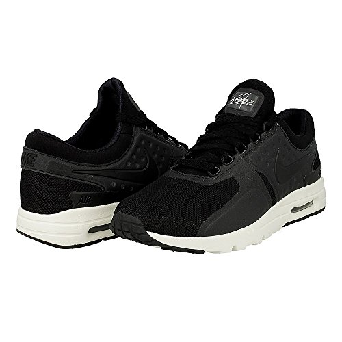Nike Womens Air Max Zero Black/Black-Sail 857661-002 (9.5 M US)