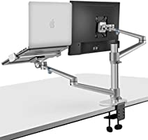 viozon Monitor and Laptop Mount, 2-in-1 Adjustable Dual Monitor Arm Desk Mounts,Single Desk Arm Stand/Holder for 17 to 27...