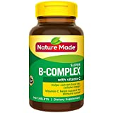 Nature Made Super B-Complex Tablets, 140 Count Value Size for Metabolic Health† (Packaging May Vary)