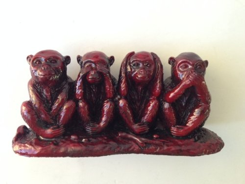 Four Monkeys Statue Do No Evil Say No Evil Hear No Evil See No Evil