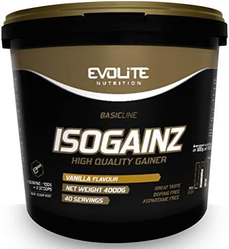 Evolite Nutrition IsoGainz 4kg - Vanilla - Massgainer - Weightgainer - Gewichtszunahme