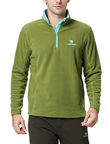 - Camel Crown Mens/Womens Fleece Pullover Quarter Zip Pullover Lightweight Sweatshirt for Spring