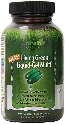 Irwin Naturals, Men's Living Green Liquid-Gel Multi, 2 Pack (90 Liquid Soft-Gels)