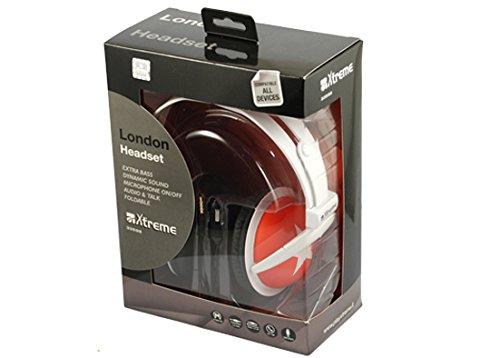 Xtreme 33596R Cuffia Audio London Connettore Jack 3,5 mm Diametro 50 mm Padiglione Auricolare