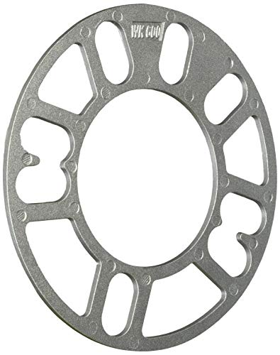White Knight Wheel Accessories 600-2 3mm Aluminum 4 & 5 Lug Universal Wheel Spacer, 2 Pack