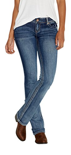 maurices Women's Ellie Slim Boot Jeans In Medium Wash 11/12 Medium Sandblast (Slim Jeans Womens Boot)
