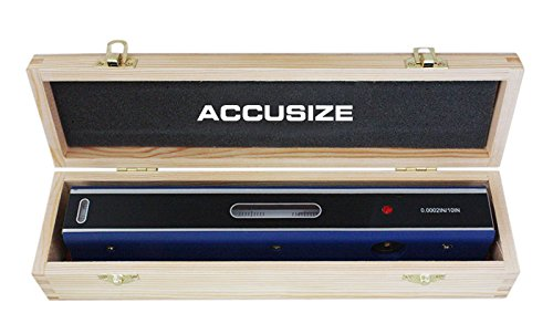 AccusizeTools - 12'' Master Precision Level in Fitted Box, Accuracy: 0.0002''/10'', #S908-C687