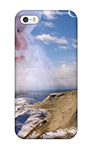 New Design Shatterproof WGkJypQ4834YguVk Case For Iphone 5/5s (santa Clause In The Grey Dunes Curonia Xmas Claus Holiday Christmas)