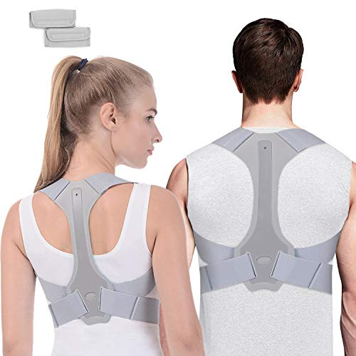 Posture Corrector for Women and Men FDA Approved, Adjustable Upper Back Brace for Clavicle Support, Comfortable Posture Brace Providing Pain Relief from Neck, Back and Shoulder (L)