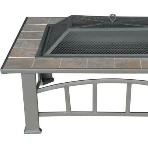 Axxonn Rectangular Tile Top Fire Pit, Brownish Bronze .#GH45843 3468-T34562FD388765 by Nessagro