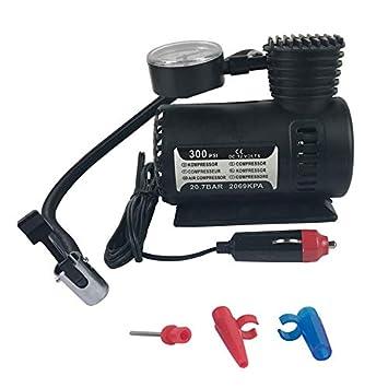 Libertroy Compresor de Aire Compacto de Flujo rápido Mew, 12v Compresor eléctrico Mini para automóvil Compresor de inflado de neumáticos para Bicicletas, ...