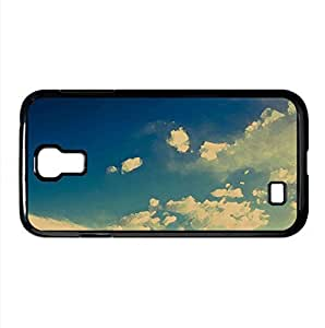 lintao diy Deep Blue Sky With White Clouds Watercolor style Cover Samsung Galaxy S4 I9500 Case (Sun & Sky Watercolor style Cover Samsung Galaxy S4 I9500 Case)