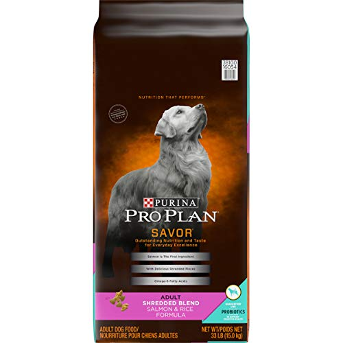 Purina Pro Plan Probiotics Dry Dog Food; SAVOR Shredded Blend Salmon & Rice Formula - 33 lb. Bag