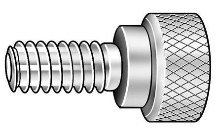 Knurled 18-8 SS Z1071SS 5//16-18x1 L Thumb Screw Pack of 2
