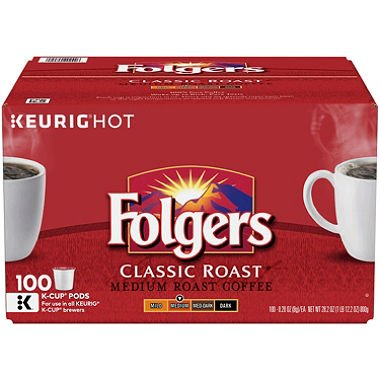 Folgers Classic Roast Coffee (100 K-Cups) by Folgers