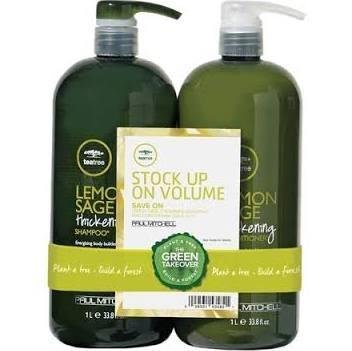 Paul Mitchell Tea Tree Lemon Sage Thickening Shampoo and Conditioner Set, 33.8 oz by Paul Mitchell
