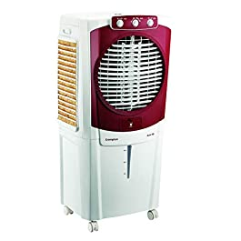 Crompton Aura Woodwool 90-Litre Desert Cooler (White/Maroon)