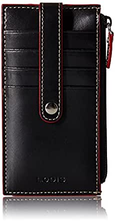 """Lodis Audrey 5"""" Card Case with Zipper,Black,one size"""